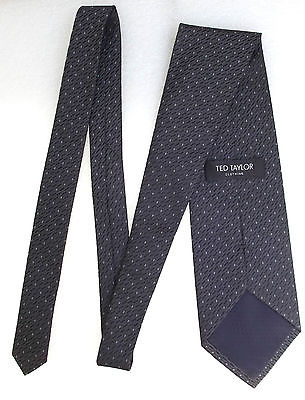 Ted Taylor grey patterned tie
